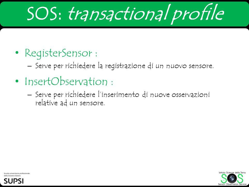 SOS: transactional profile