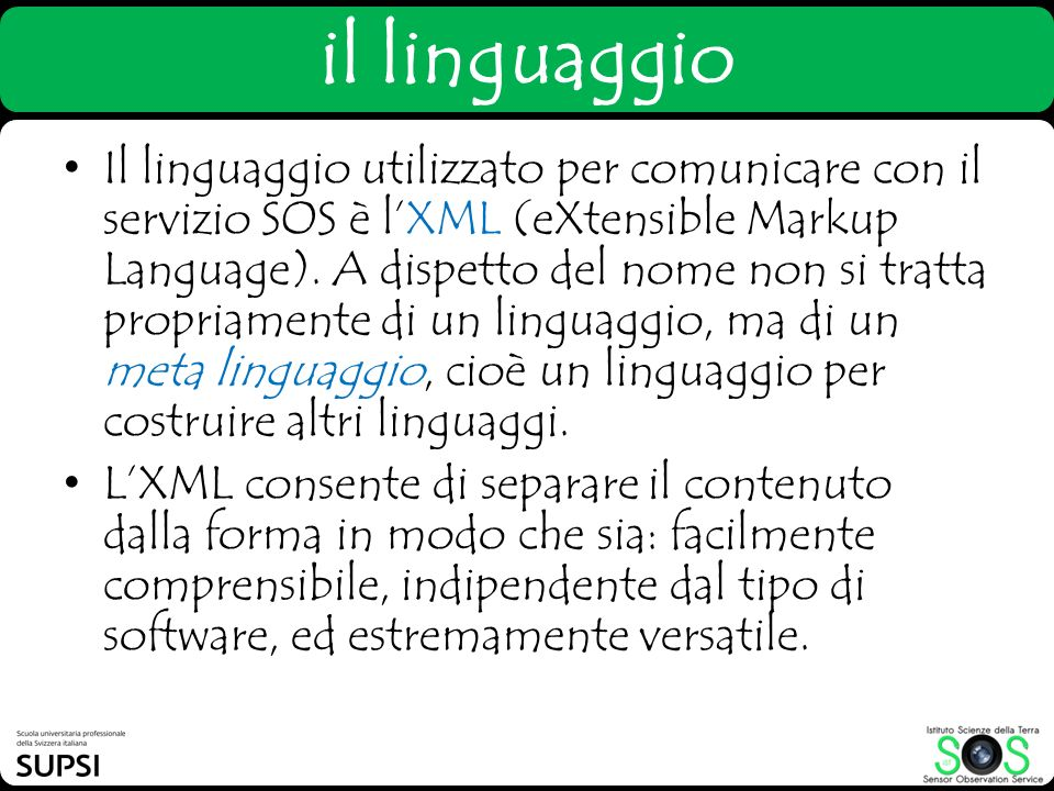 il linguaggio