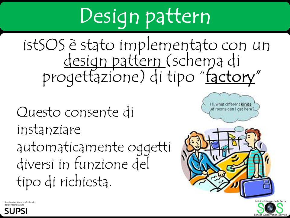 Design pattern istSOS è stato implementato con un design pattern (schema di progettazione) di tipo factory