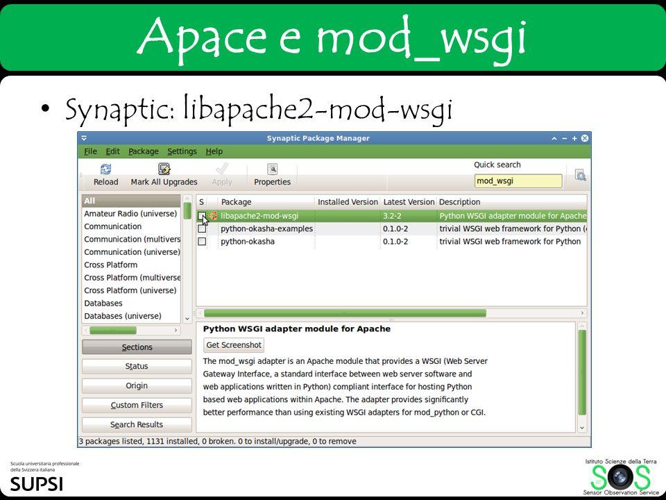 Apace e mod_wsgi Synaptic: libapache2-mod-wsgi