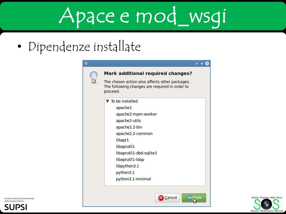 Apace e mod_wsgi Dipendenze installate