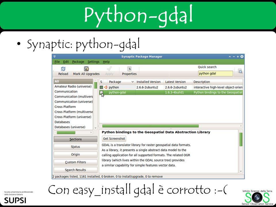 Con easy_install gdal è corrotto :-(