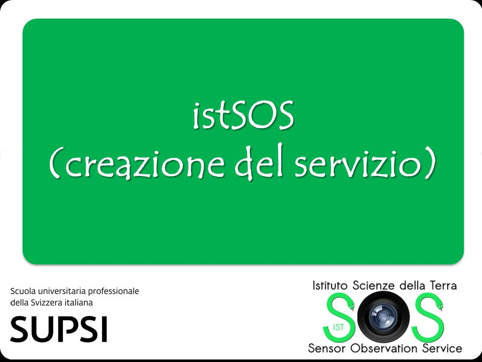 istSOS (creazione del servizio)