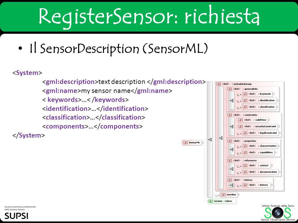 RegisterSensor: richiesta