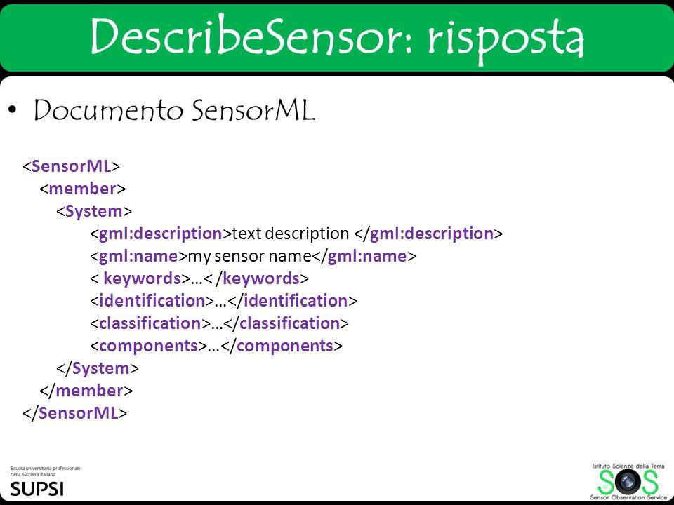 DescribeSensor: risposta