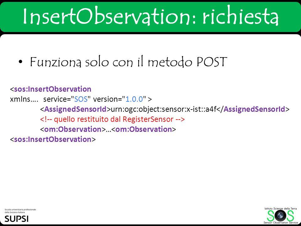 InsertObservation: richiesta