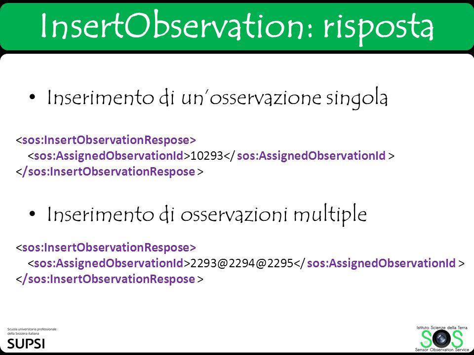 InsertObservation: risposta