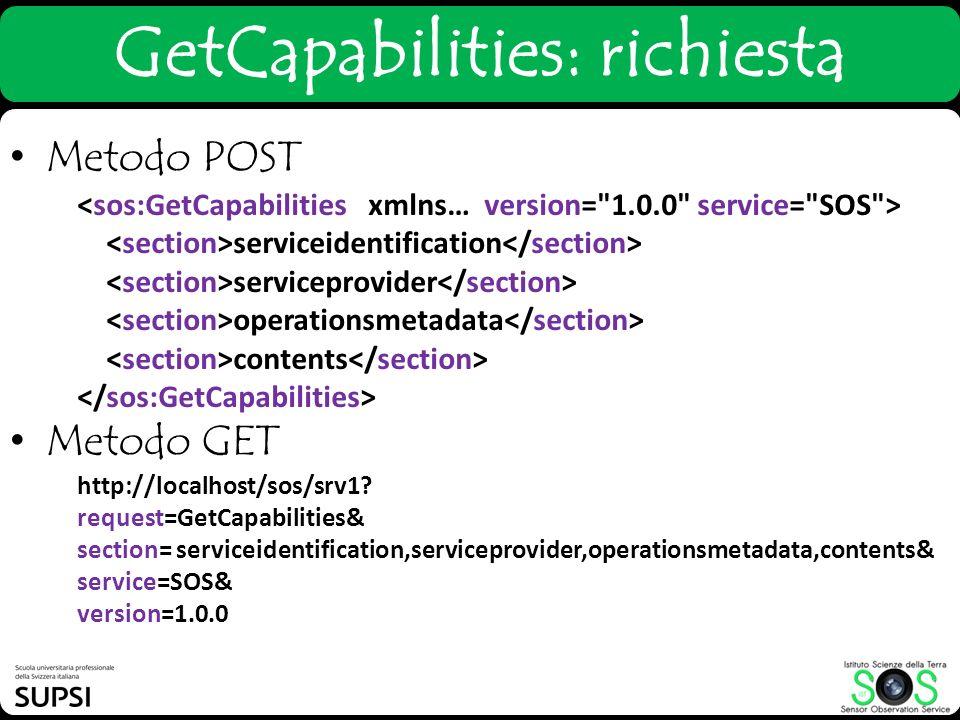 GetCapabilities: richiesta
