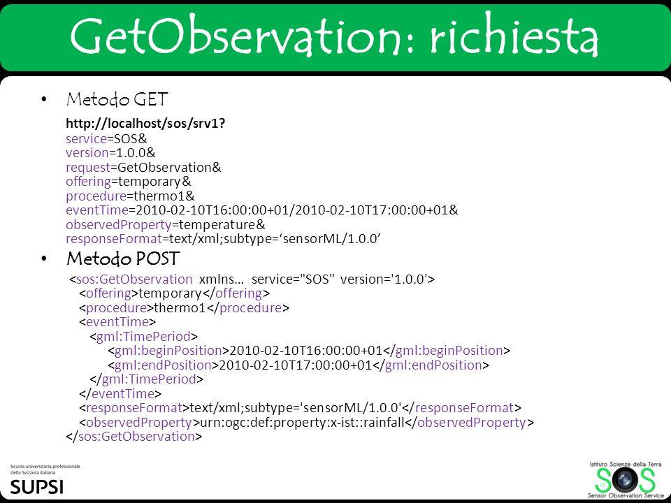 GetObservation: richiesta