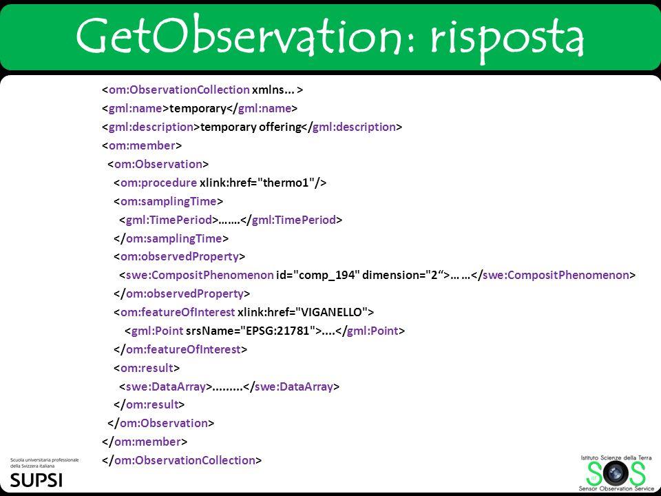 GetObservation: risposta