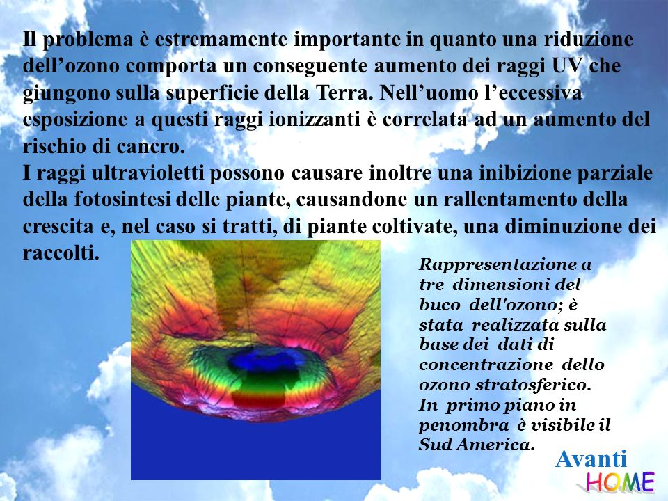 Il problema è estremamente importante in quanto una riduzione dell'ozono comporta un conseguente aumento dei raggi UV che giungono sulla superficie della Terra. Nell'uomo l'eccessiva esposizione a questi raggi ionizzanti è correlata ad un aumento del rischio di cancro.