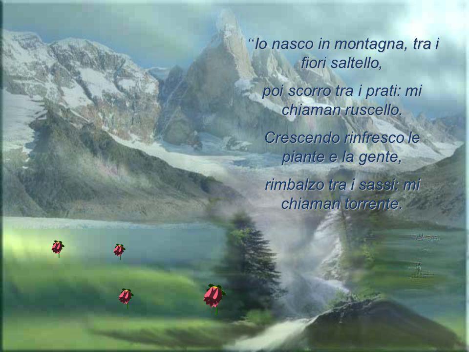 Io nasco in montagna, tra i fiori saltello,