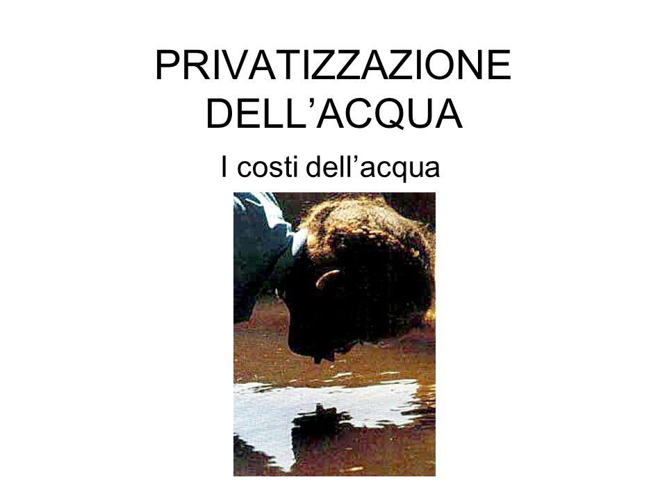 PRIVATIZZAZIONE DELL'ACQUA