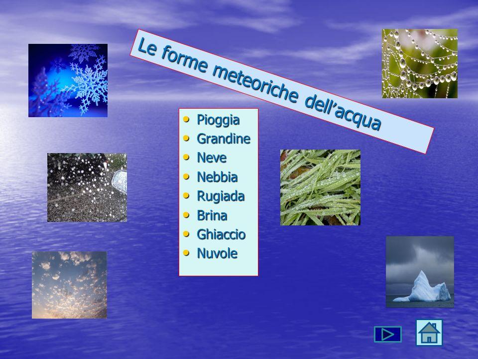 Le forme meteoriche dell'acqua