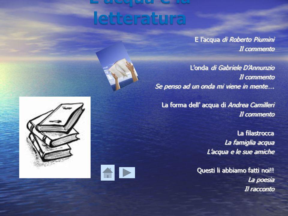 L'acqua e la letteratura