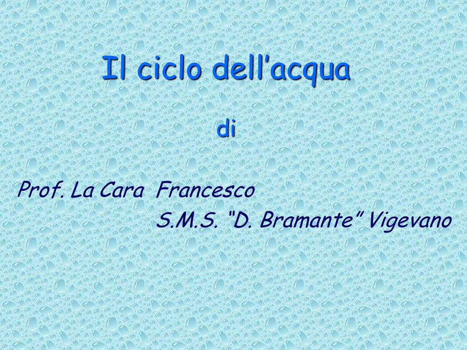 Prof. La Cara Francesco S.M.S. D. Bramante Vigevano