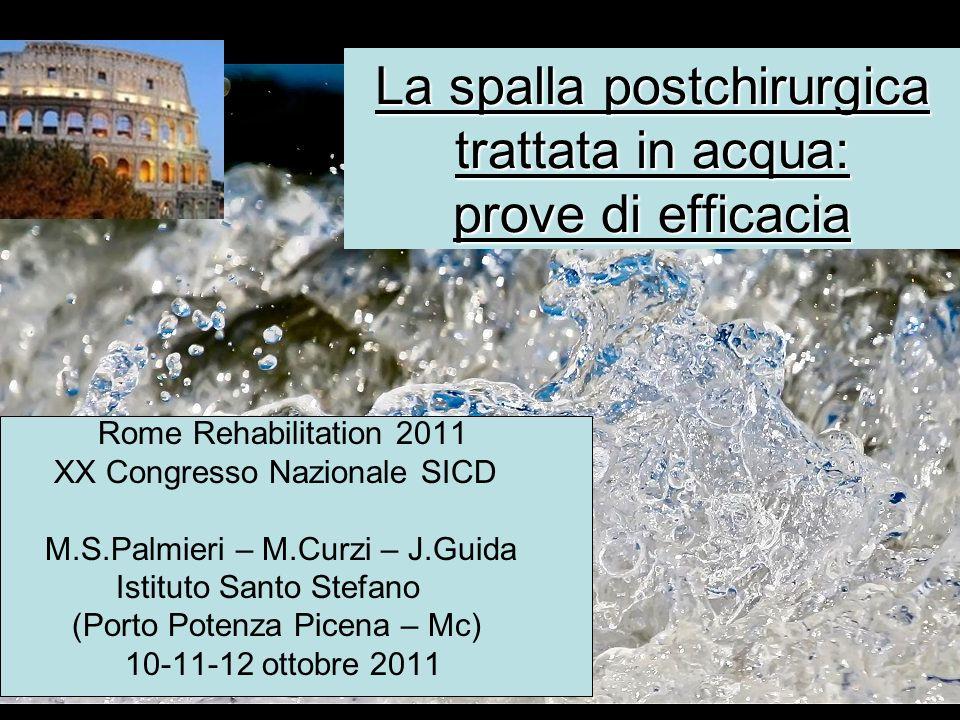 La spalla postchirurgica trattata in acqua: prove di efficacia