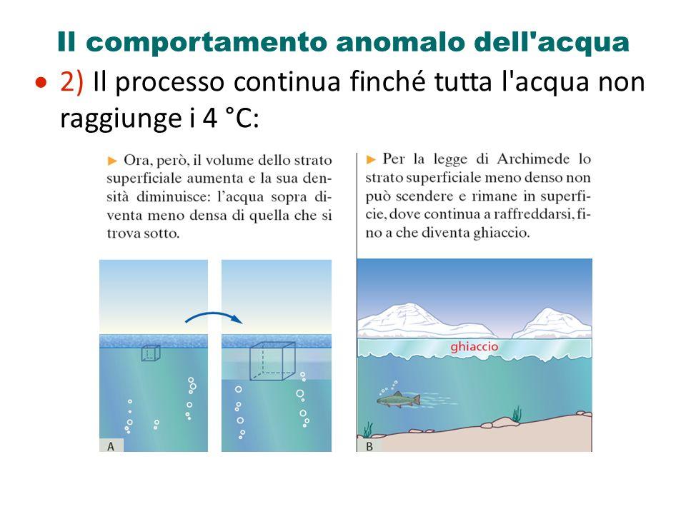 Il comportamento anomalo dell acqua