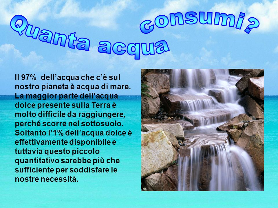 Quanta acqua consumi