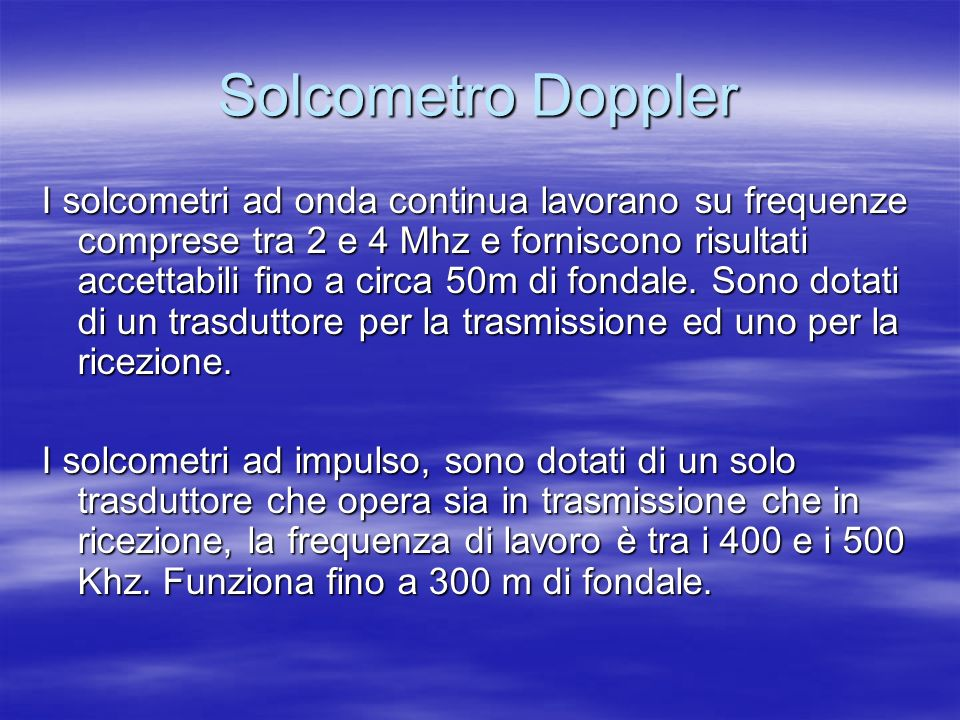 Solcometro Doppler