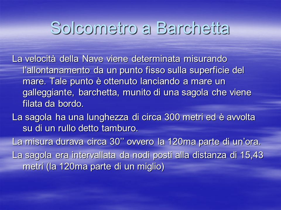 Solcometro a Barchetta