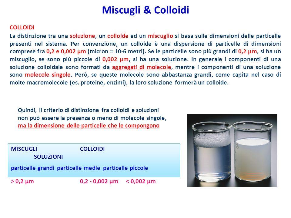 Miscugli & Colloidi COLLOIDI