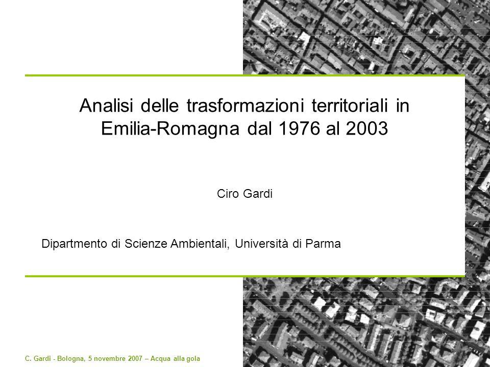 Analisi delle trasformazioni territoriali in Emilia-Romagna dal 1976 al 2003