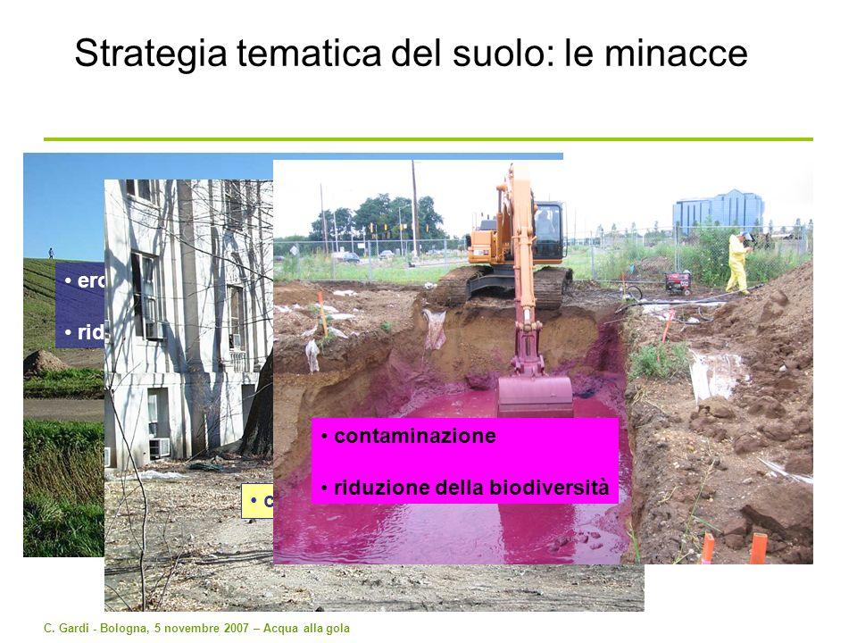 Strategia tematica del suolo: le minacce