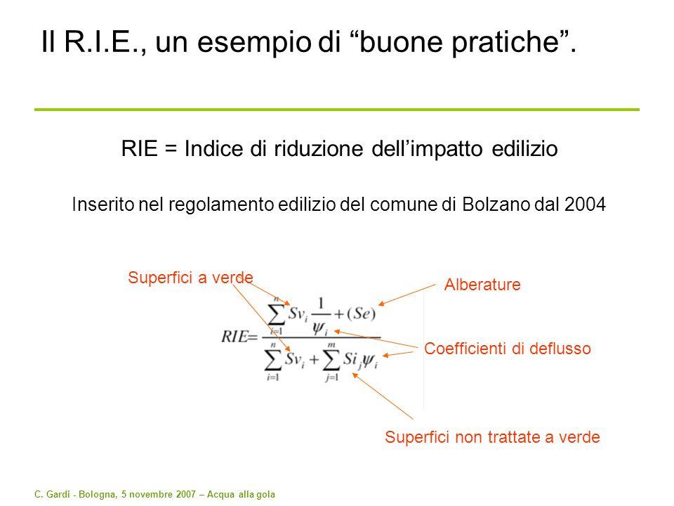 Il R.I.E., un esempio di buone pratiche .