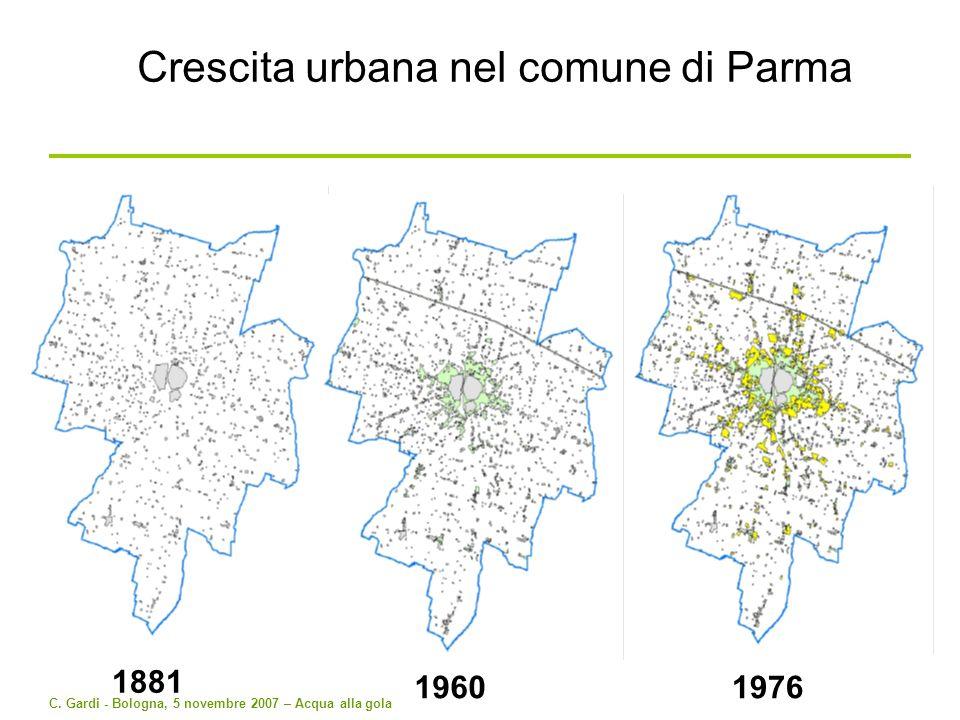 Crescita urbana nel comune di Parma
