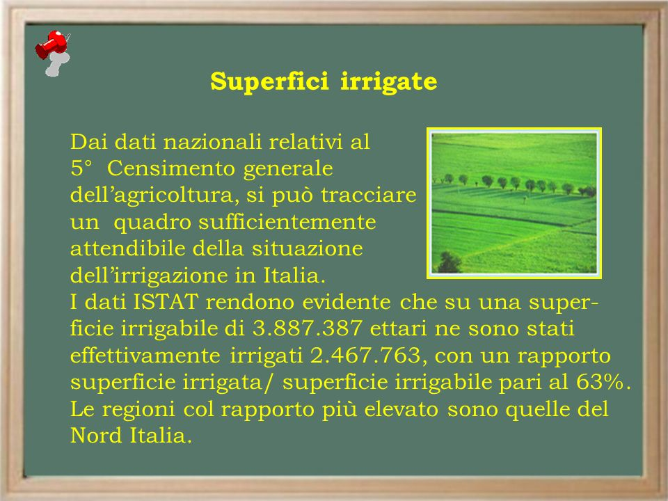 Superfici irrigate