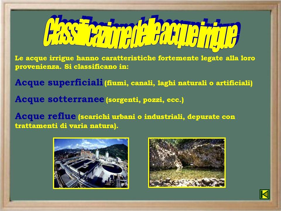 Classificazione delle acque irrigue
