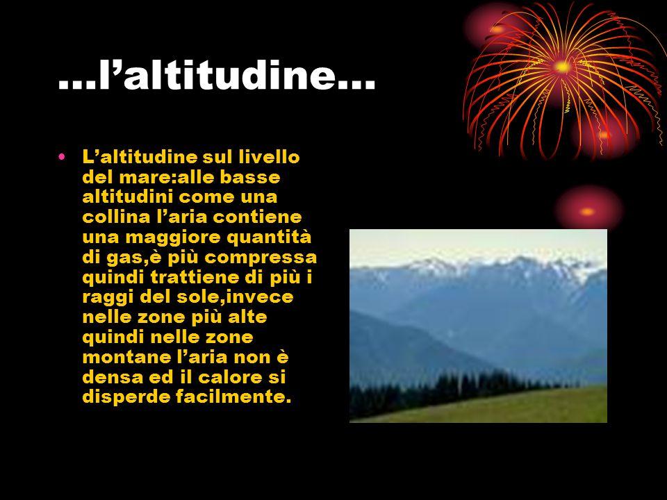 …l'altitudine…