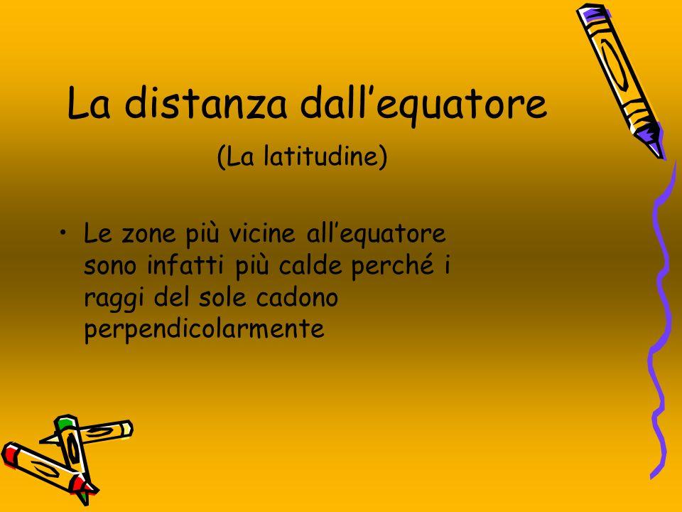 La distanza dall'equatore