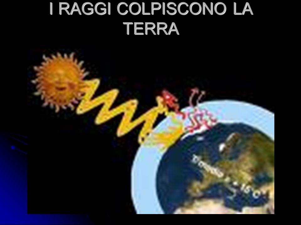 I RAGGI COLPISCONO LA TERRA