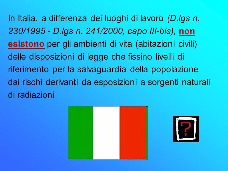 In Italia, a differenza dei luoghi di lavoro (D.lgs n.