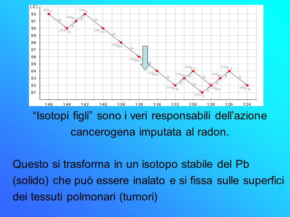 Il radon è un elemento inerte elettricamente neutro
