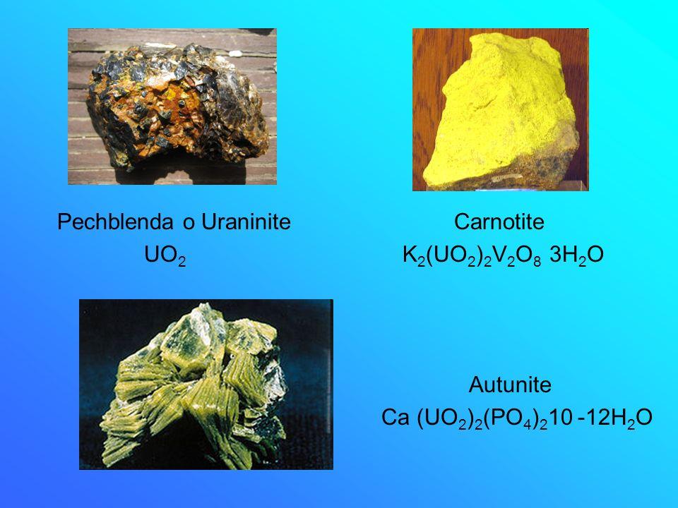 Pechblenda o Uraninite Carnotite