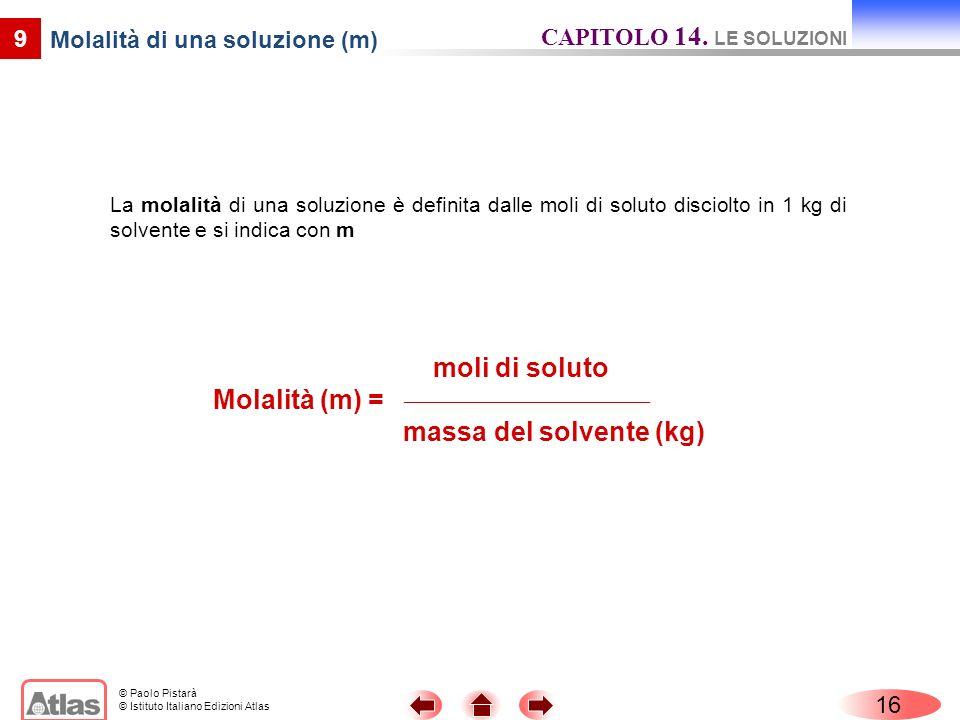 Molalità di una soluzione (m)
