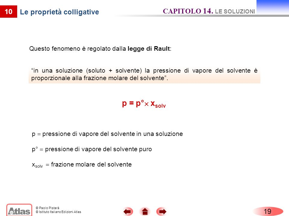 Le proprietà colligative