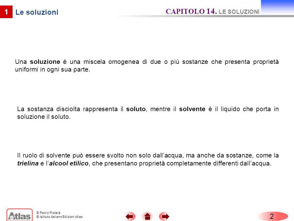 CAPITOLO 14. LE SOLUZIONI 1 Le soluzioni 2
