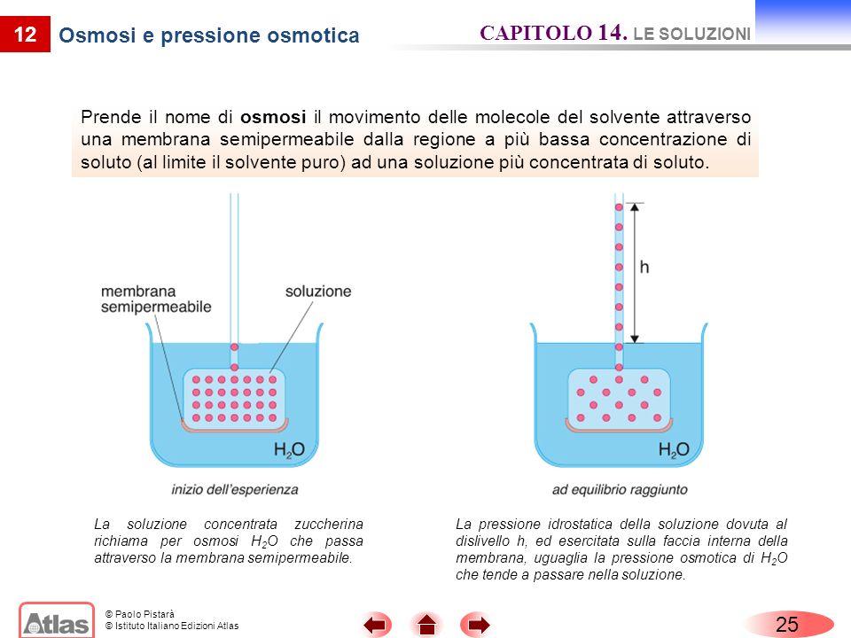 Osmosi e pressione osmotica