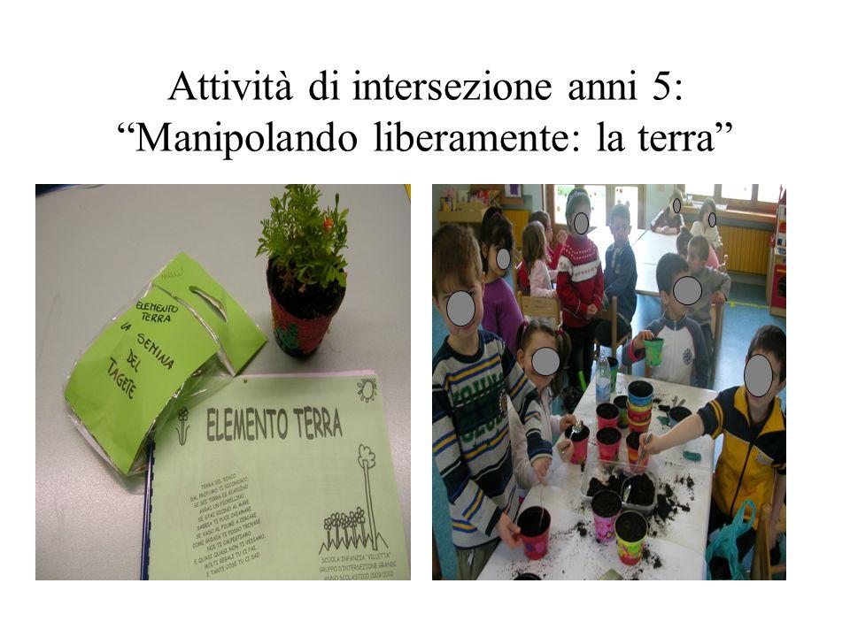 Attività di intersezione anni 5: Manipolando liberamente: la terra