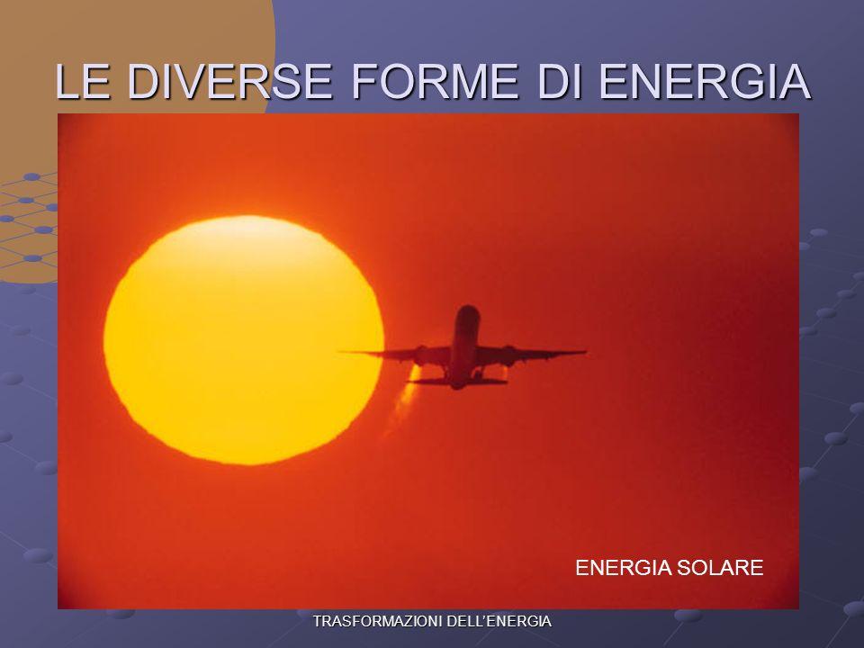 LE DIVERSE FORME DI ENERGIA