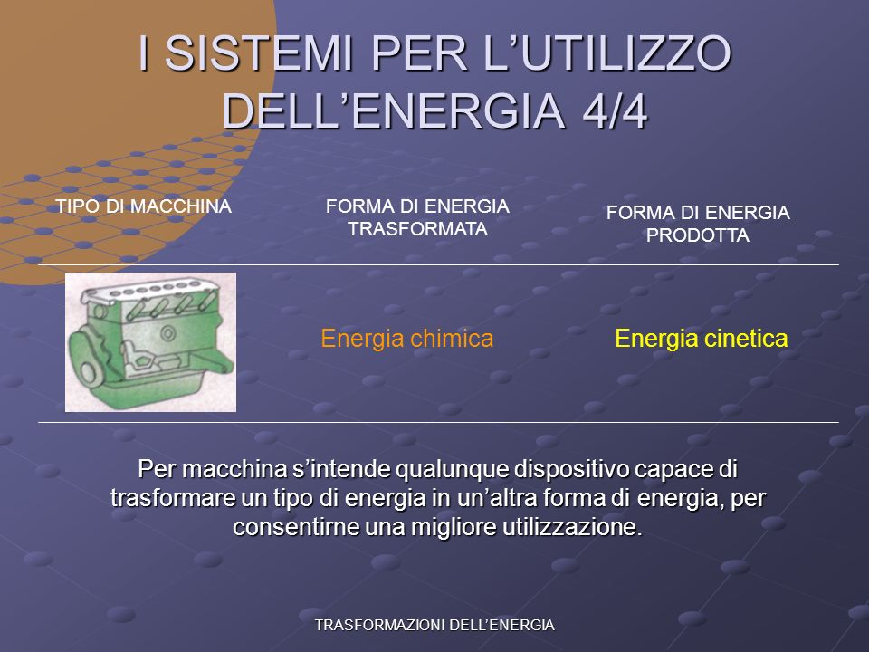 I SISTEMI PER L'UTILIZZO DELL'ENERGIA 4/4