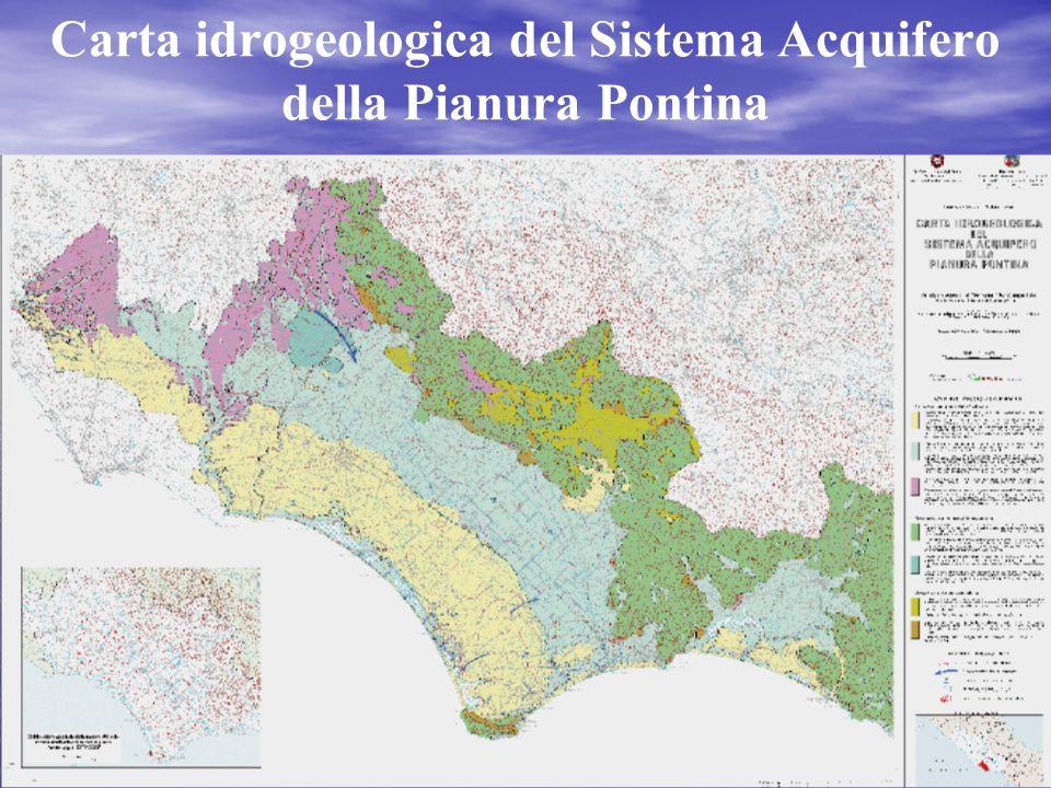 Carta idrogeologica del Sistema Acquifero della Pianura Pontina