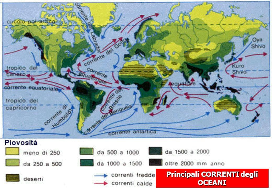 Principali CORRENTI degli OCEANI