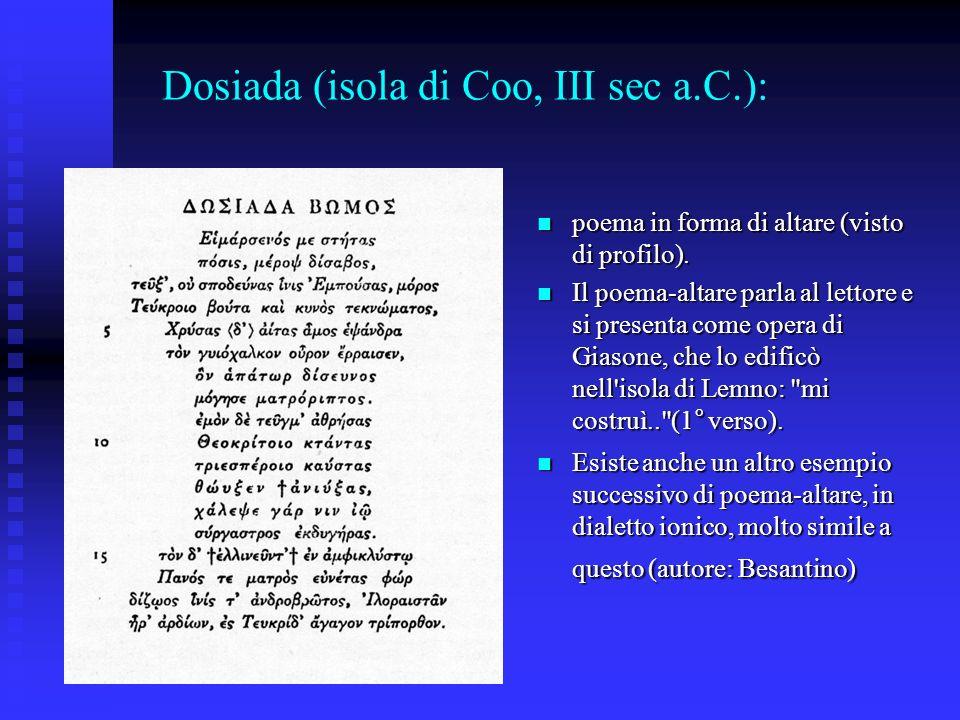 Dosiada (isola di Coo, III sec a.C.):
