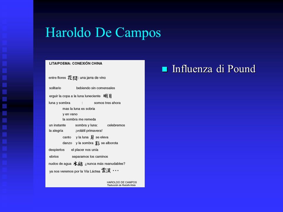 Haroldo De Campos Influenza di Pound