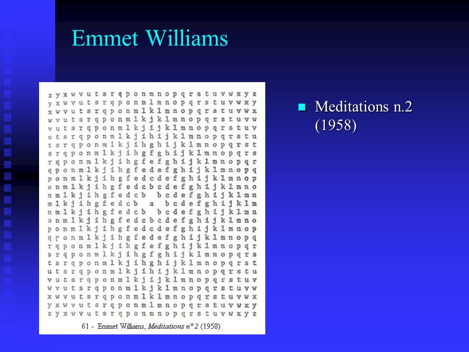 Emmet Williams Meditations n.2 (1958)